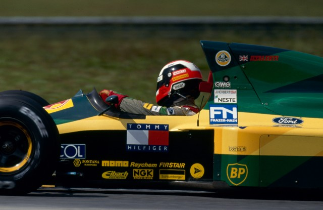 Johhny Herbert (GB), Team Lotus.. 1992 Formula One World Championship.